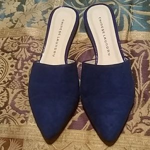 Chinese Laundry Royal Blue Slip on Mules
